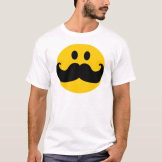 Snor Smiley (Klantgerichte kleur als achtergrond) T Shirt