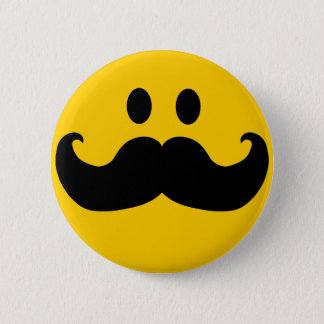 Snor Smiley Ronde Button 5,7 Cm