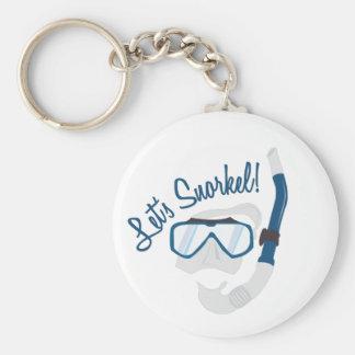 Snorkel! Basic Ronde Button Sleutelhanger