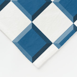 Snorkel Blauwe Gecontroleerde Schuine rand Fleece Deken