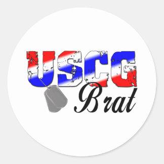 Snotaap USCG - Rood, Wit en Blauw Ronde Sticker