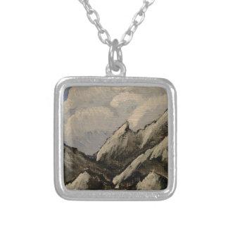 Snow-Capped Berg Zilver Vergulden Ketting