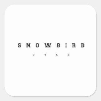 Snowbird Utah Vierkante Sticker