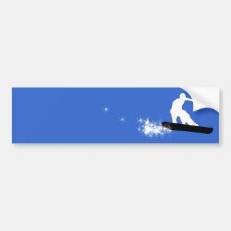 snowboard. eenvoudig bumpersticker