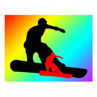 snowboard: shadowstance briefkaart