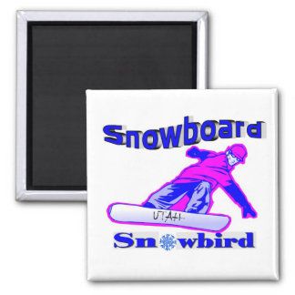 Snowboard Snowbird Magneet