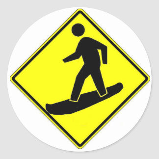 Snowboard Xing Ronde Sticker