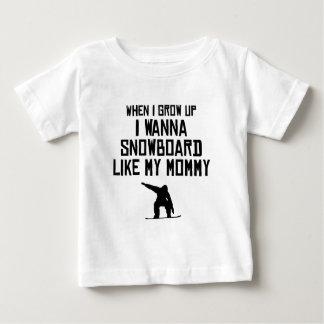 Snowboard zoals Mijn Mama Baby T Shirts