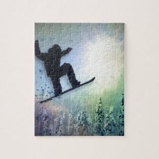 Snowboarder: Lucht Puzzel
