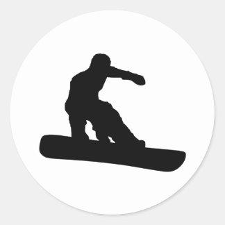 Snowboarder Ronde Sticker