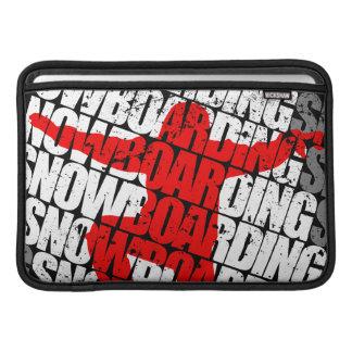 Snowboarding #1 (wht) MacBook air beschermhoes