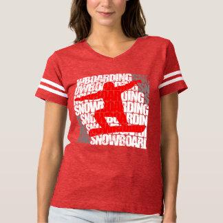 Snowboarding #1 (wht) t shirts