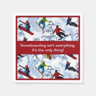 Snowboarding is niet alles wegwerp servetten