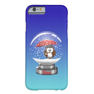 snowglobe uil barely there iPhone 6 hoesje