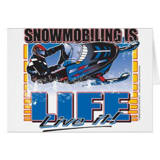 Snowmobiling is het Leven leeft het Kaart