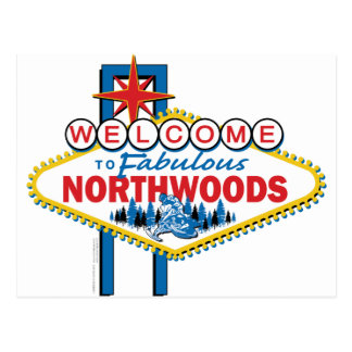 Snowmobiling/Onthaal aan Northwoods Briefkaart