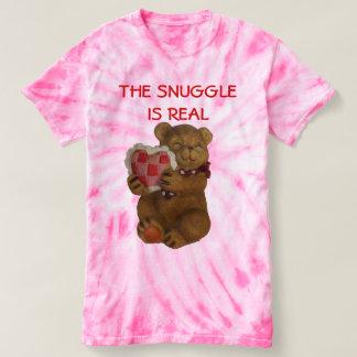Snuggle is Echte Teddybeer T Shirts
