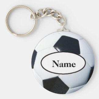 Soccer ball with your name on it sleutel hanger