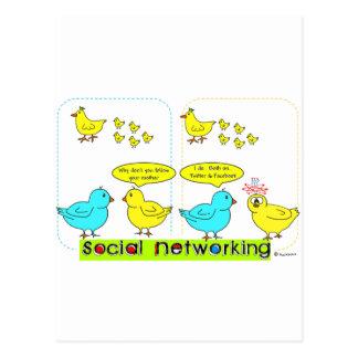 Sociaal Voorzien van een netwerk Briefkaart