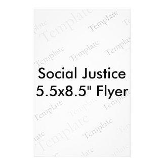 Sociale Vlieger van de Rechtvaardigheid 5.5x8.5 Persoonlijke Folder