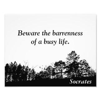Socrates - citaatdruk foto afdruk