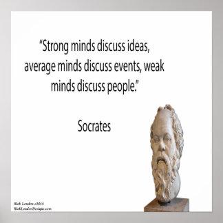 Socrates - & het Sterke Poster van het Citaat van