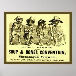 Soep en de Overeenkomst van het Bot Poster