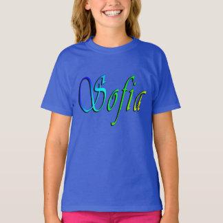 Sofia, Naam, Logo, de Blauwe T-shirt van Meisjes