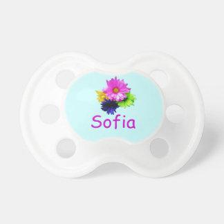Sofia-neon bloemen fopspeen