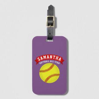 Softball All Star Kofferlabels