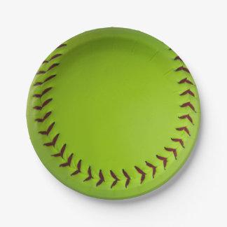 softball borden papieren bordje