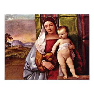 Sogen. Virgin en Kind (Zigeuner Madonna) door Kaart