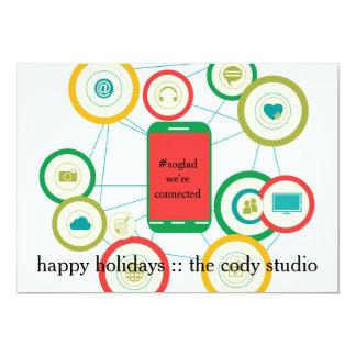 #SoGladWe'reConnected Kaart de Bedrijfs van de 12,7x17,8 Uitnodiging Kaart
