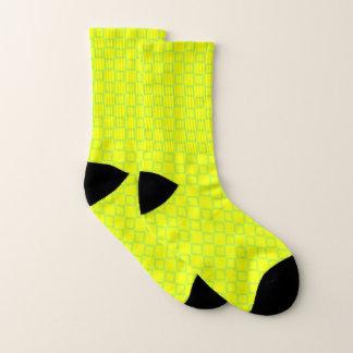 Sokken met klassiek geel en groen ontwerp