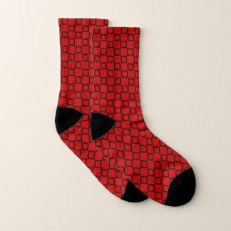 Sokken met klassiek rood en zwart ontwerp