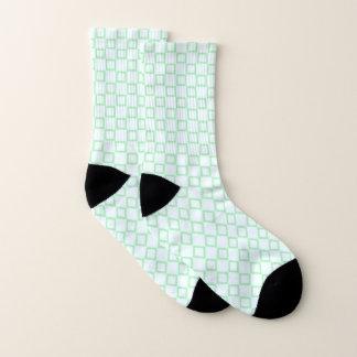 Sokken met klassiek wit en groen ontwerp