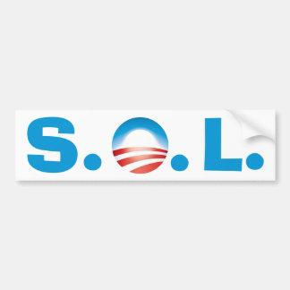 SOL Obama - Theekransje die gaan winnen Bumpersticker