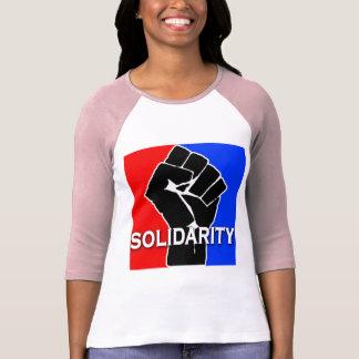 SOLIDARITEIT in Rood, Wit, Blauw en Zwarte T Shirt