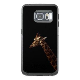 Solo Giraf op Zwarte, OtterBox Samsung Galaxy S6 Edge Hoesje