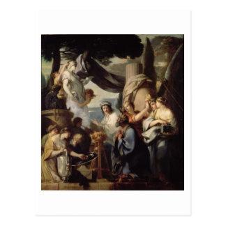 Solomon die tot een offer maken aan de idolen briefkaart