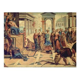 Solomon en de Koningin van Sheba Briefkaart