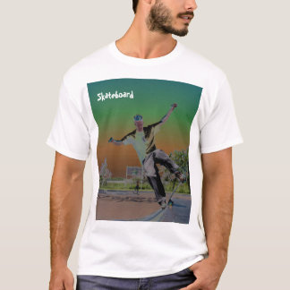 Solorized skateboarder t shirt