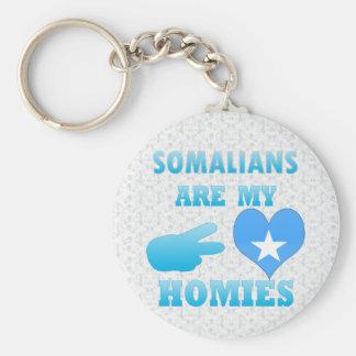 Somaliërs zijn mijn Homies Basic Ronde Button Sleutelhanger