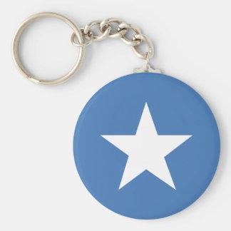 Somalische vlag basic ronde button sleutelhanger