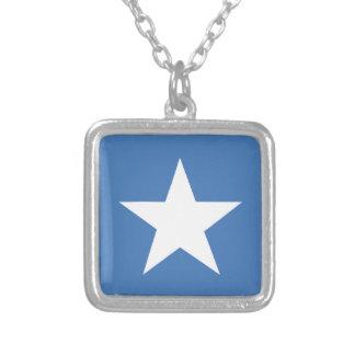 Somalische vlag ketting vierkant hangertje