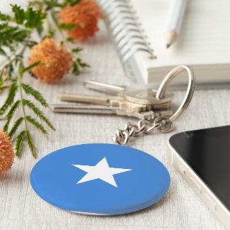 Somalische Zeer belangrijke Ketting Basic Ronde Button Sleutelhanger
