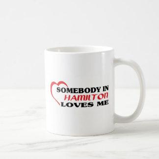 Somebody in Hamilton houdt van me Koffiemok