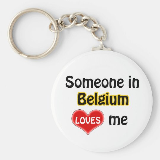 Someone in Belgium Loves me Sleutelhanger