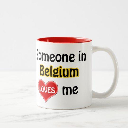 Someone in Belgium loves me Tweekleurige Koffiemok