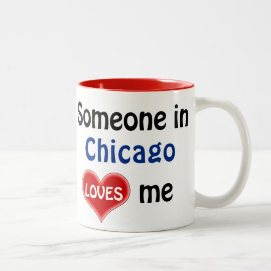 Someone in Chicago loves me Tweekleurige Koffiemok